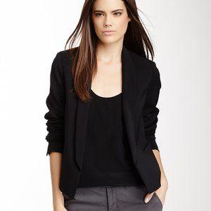 VINCE. Cropped Shawl Collar Black Blazer Sz 2